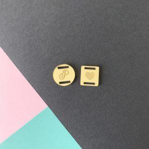 Passante dourado para fita e elástico