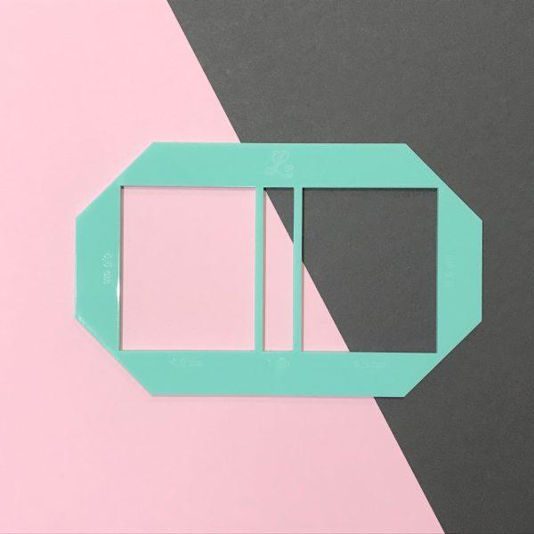Gabarito para chaveiro de bloco autoadesivo - Mint